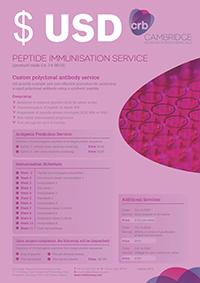 Peptide Immunisation Service - USD