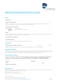 Protein Immunisation Guide