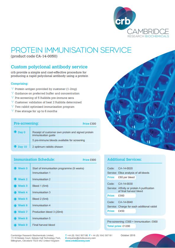 Protein Immunisation Service - GBP
